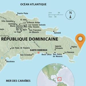 Carte de Punta Cana, République dominicaine