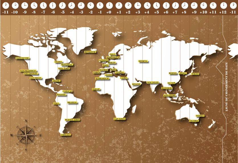 fuseaux horaires mondiaux